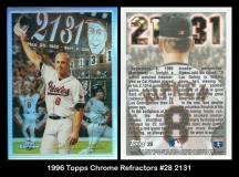 1996 Topps Chrome Refractors #28 2131