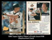 1996 Topps Gallery Player's Private Issue #168 Replacement Card