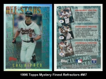 1996 Topps Mystery Finest Refractors #M7