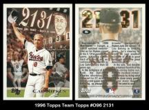 1996 Topps Team Topps #096 2131