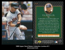 1996 Upper Deck Ripken Collection Jumbos #11