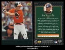 1996 Upper Deck Ripken Collection Jumbos #19