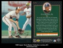 1996 Upper Deck Ripken Collection Jumbos #21