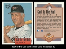1996 Ultra Call to the Hall Gold Medallion #7