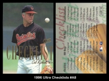 1996 Ultra Checklists #A8