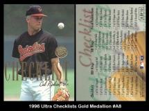 1996 Ultra Checklists Gold Medallion #A8