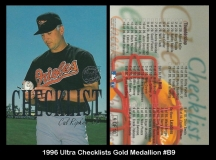 1996 Ultra Checklists Gold Medallion #B9