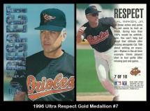 1996 Ultra Respect Gold Medallion #7