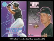 1996 Ultra Thunderclap Gold Medallion #17
