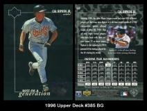 1996 Upper Deck #385 BG