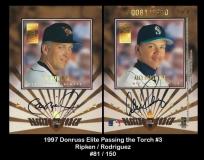1997 Donruss Elite Passing the Torch Autographs #3