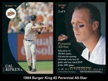 1994 Burger King #2 Perennial All-Star