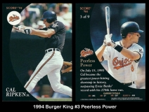 1994 Burger King #3 Peerless Power