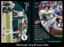 1994 Burger King #8 Heavy Hitter