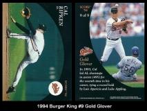 1994 Burger King #9 Gold Glover