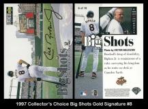 1997 Collectors Choice Big Shots Gold Signature #8