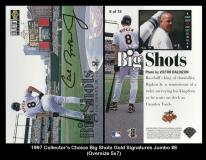 1997 Collector's Choice Big Shots Gold Signatures Jumbo #8