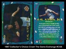 1997 Collectors Choice Crash The Game Exchange #CG6