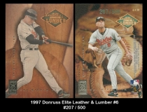1997 Donruss Elite Leather & Lumber #6