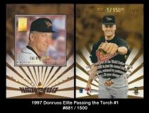 1997 Donruss Elite Passing the Torch #1