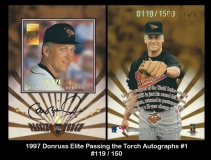 1997 Donruss Elite Passing the Torch Autographs #1