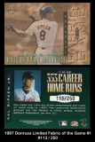 1997 Donruss Limited Fabric of the Game #1