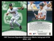 1997 Donruss Signature Millennium Marks Autograph #104