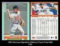 1997 Donruss Signature Platinum Press Proof #58