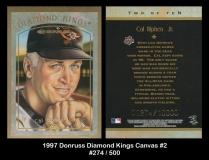 1997 Donruss Diamond Kings Canvas #2
