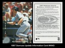 1997 Donruss Update Information Card #NNO