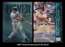 1997 Finest Embossed #135 Silver