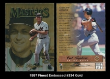 1997 Finest Embossed #334 Gold