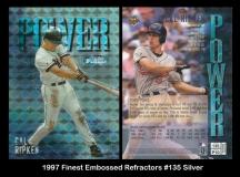1997 Finest Embossed Refractors #135 Silver