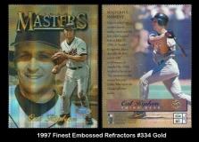 1997 Finest Embossed Refractors #334 Gold