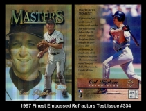 1997 Finest Embossed Refractors Test Issue #334