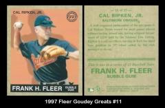 1997 Fleer Goudey Greats #11