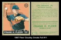 1997 Fleer Goudey Greats Foil #11