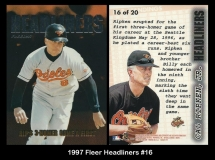 1997 Fleer Headliners #16