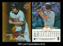 1997 Leaf Fractal Matrix #218