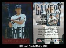 1997 Leaf Fractal Matrix #370