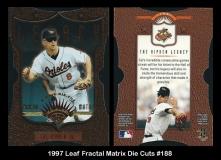 1997 Leaf Fractal Matrix Die Cuts #188