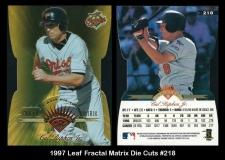 1997 Leaf Fractal Matrix Die Cuts #218