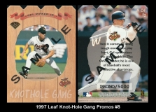 1997 Leaf Knot-Hole Gang Promos #8