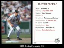 1997 Orioles Postcards #29