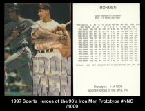 1997 Sports Heroes Of the 90's Iron Men Prototype #NNO