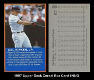 1997 Upper Deck Cereal Box Card #NNO