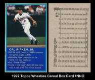 1997 Wheaties Cereal Box Card #NNO