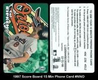 1997 Score Board 15 Min Phone Card #NNO