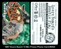 1997 Score Board 15 Min Promo Phone Card #NNO