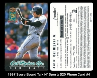 1997 Score Board Talk N Sports $20 Phone Card #4